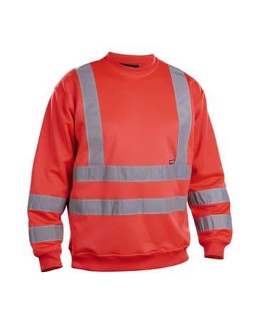 Blaklader 3341 Sweatshirt High Vis (Red High Viz)