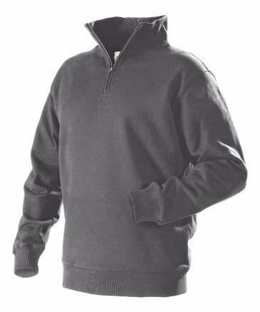 Blaklader 3365 Half Zipped College Jersey  (Grey)