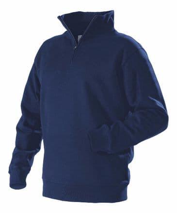 Blaklader 3365 Half Zipped College Jersey  (Navy Blue)