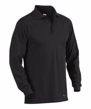 Blaklader 3374 Flame Retardant Pique long sleeved polo (Black)