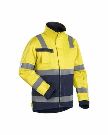 Blaklader 4068 Multinorm Winter Jacket (Yellow/Navy Blue)