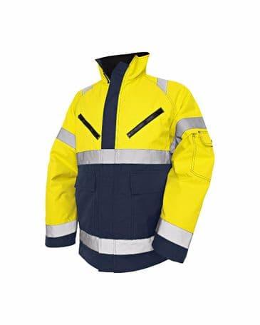 Blaklader 4827 High Vis, Winter Jacket, PU (Yellow/Navy Blue)