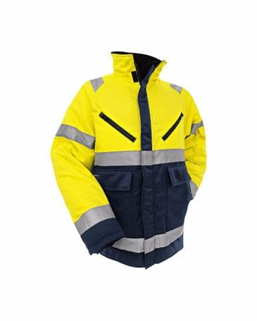 Blaklader 4828 High Vis Winter Jacket (Yellow/ Navy Blue)
