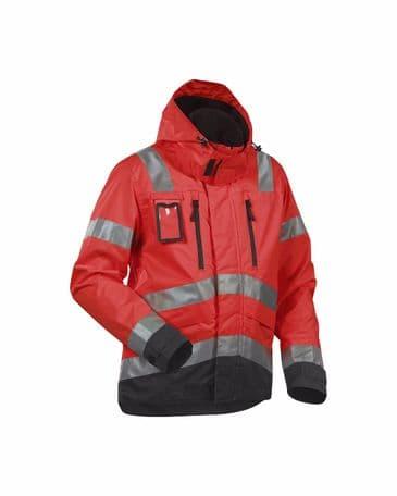 Blaklader 4837 High Vis, Water-Repellent Jacket (Red/Black)