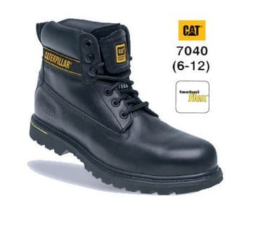 Caterpillar Holton Leather Goodyear Welted Safety Boot 7040 (Black)