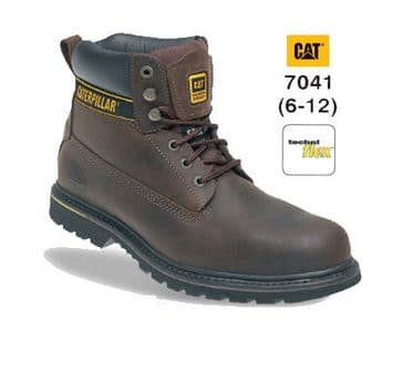 Caterpillar Holton Leather Goodyear Welted Safety Boot 7041 (Brown)