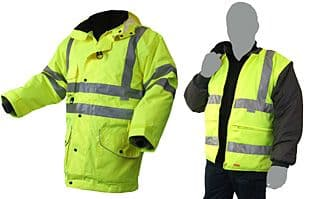 Click B Seen 7-in-1 Hi Vis Elsener Jacket