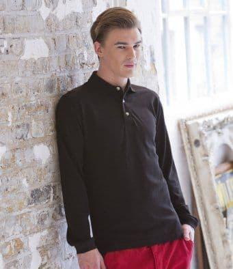 Henbury Long Sleeve Cotton Polo Shirt HB105