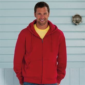 Russell Authentic Zipped Hooded Sweat J266M