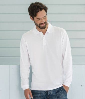 Russell Long Sleeve Classic Cotton Polo J569L