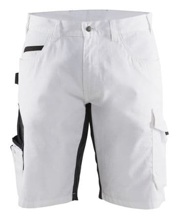 Blaklader 1094 Painter's Shorts with Stretch (White / Dark Grey)