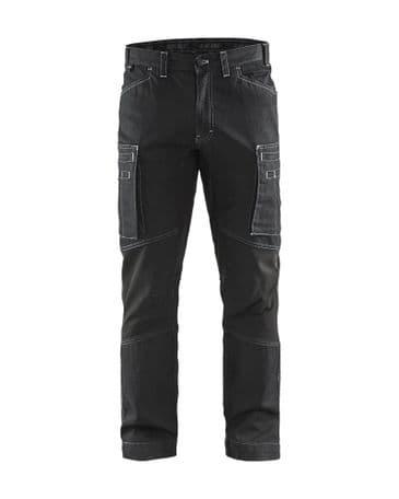 Blaklader 1459 Denim Stretch Service Trousers - 85% cotton / 15% polyamide (Black)