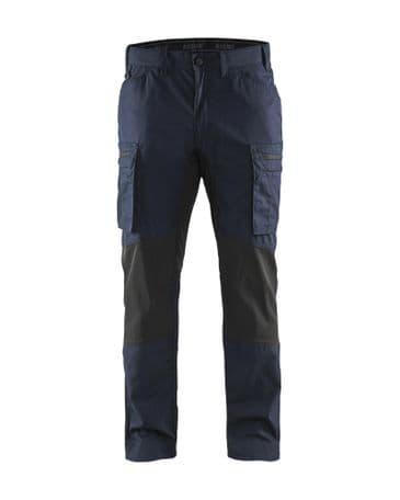 Blaklader 1459 Stretch Service Trousers - 65% Polyester/35% Cotton (Dark Navy/Black)
