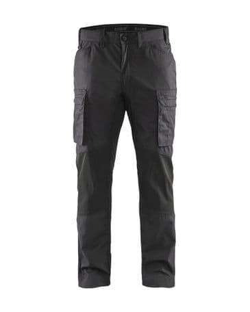 Blaklader 1459 Stretch Service Trousers - 75% cotton/25% polyamide (Dark Grey/Black)