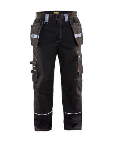 Blaklader 1461  Flame Retardant Craftsman Trousers (Black / Grey)