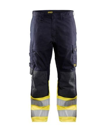 Blaklader 1488 Multinorm Trouser Inherent (Navy Blue/Yellow)