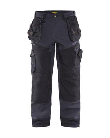Blaklader 1500 1320 Cotton Canvas Craftsmen Trousers X1500 (Steel Blue / Black)
