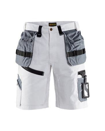 Blaklader 1512 X1500 Painters Shorts (White/Grey)