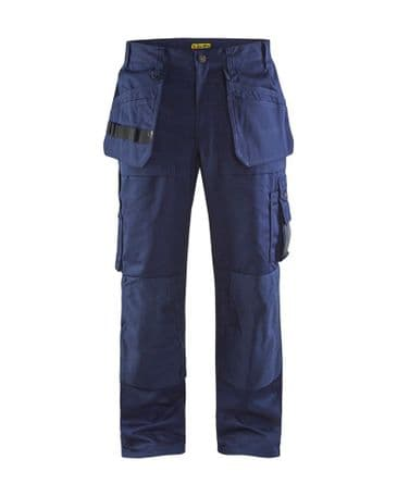 Blaklader 1530 65% Polyester/35% Cotton Twill Trousers (Navy Blue)