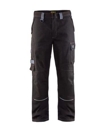 Blaklader 1561 Anti Flame Trousers (Black/Grey)