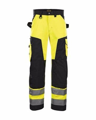 Blaklader 1566 High Vis Trouser Without Nail Pockets (Yellow/Black)