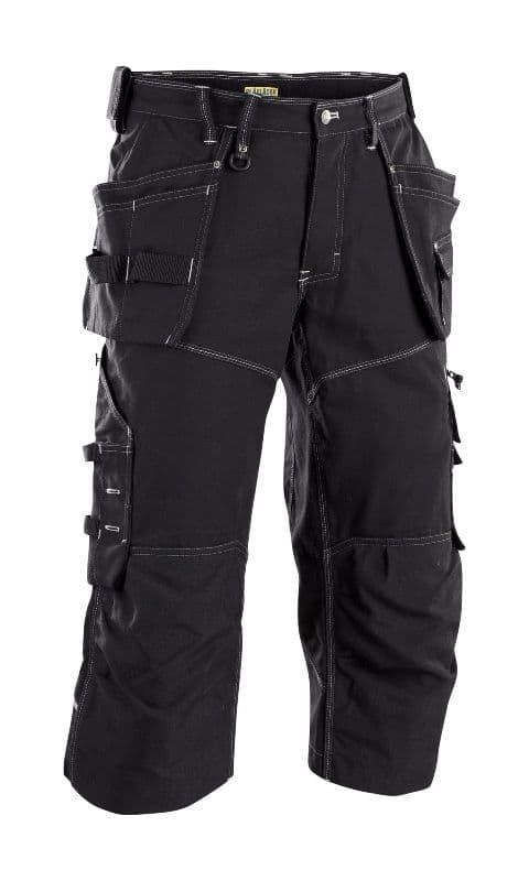 Blaklader 1962 X1900 Craftsman Pirate Shorts 100% Cotton Canvas (Black)