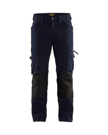 Blaklader 1989 Craftsman Trouser 4-Way Stretch Without Nail  Pockets X1900 (Dark Navy/Black)