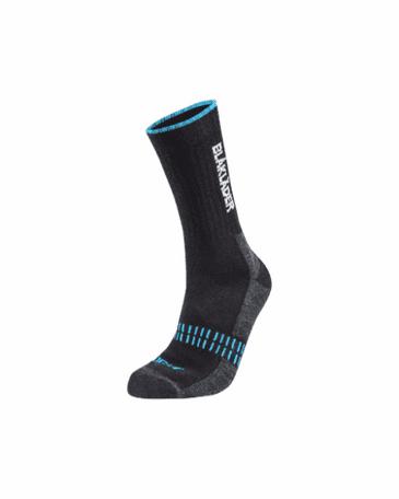 Blaklader 2191 Light Sock (Black/Neon Blue)