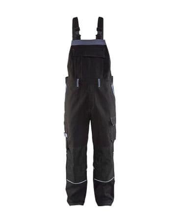Blaklader 2861 Anti-Flame Bib Trouser (Black/Grey)
