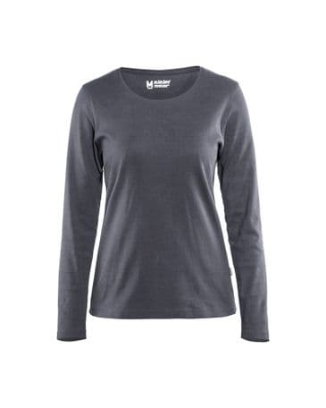 Blaklader 3301 Ladies T-Shirt With Long Sleeves (Grey)
