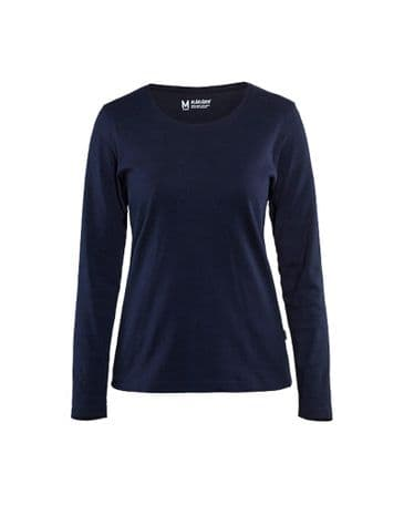 Blaklader 3301 Ladies T-Shirt With Long Sleeves (Navy Blue)
