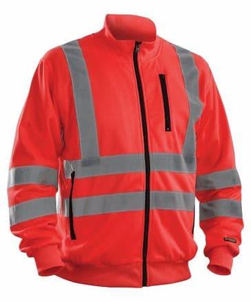Blaklader 3358 High visibility Sweatshirt (Red High Vis)
