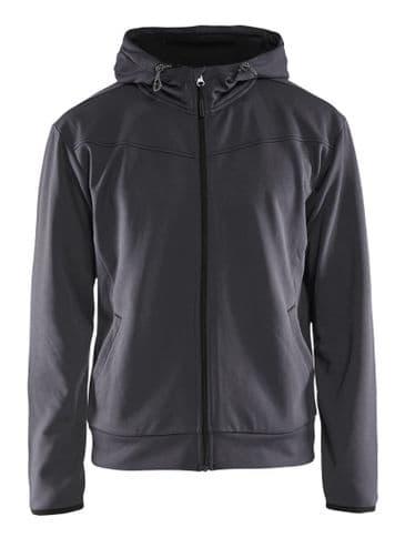 Blaklader 3363 Full Zip Hoodie Sweatshirt (Mid Grey / Black)