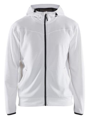 Blaklader 3363 Full Zip Hoodie Sweatshirt (White / Dark Grey)