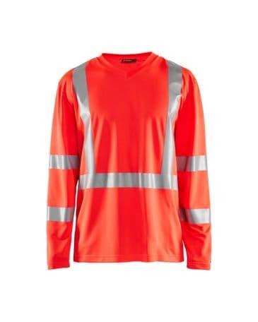 Blaklader 3383 UV T-Shirt High Vis Long Sleeve (High Vis Red)