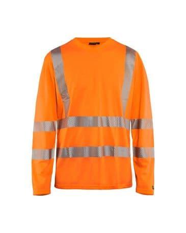 Blaklader 3385 High Vis T-Shirt Long Sleeve (Orange)