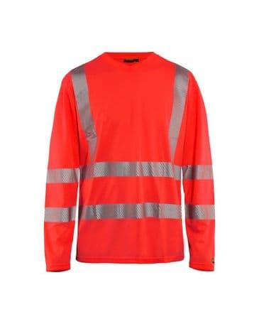 Blaklader 3385 High Vis T-Shirt Long Sleeve (Red Hi Vis)