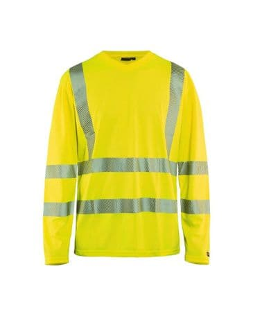 Blaklader 3385 High Vis T-Shirt Long Sleeve (Yellow)