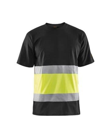 Blaklader 3387 High Vis T-Shirt Class 1 (Black/High Vis Yellow)