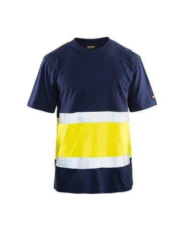 Blaklader 3387 High Vis T-Shirt Class 1 (Navy/High Vis Yellow)