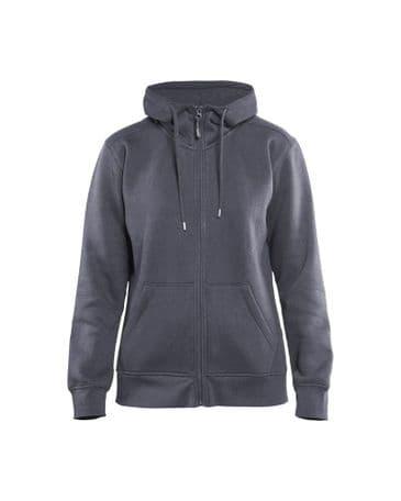 Blaklader 3395 Ladies Hoodie With Full Zipper (Grey)