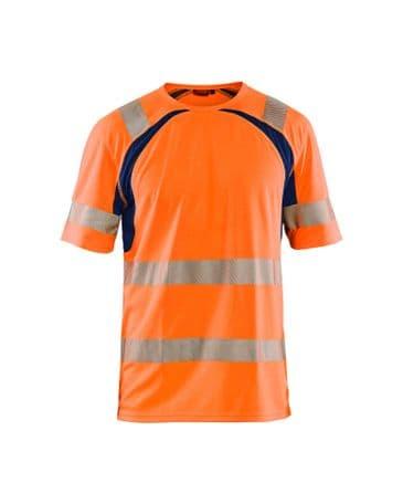 Blaklader 3397 UV High Vis T-Shirt (High Vis Orange/Navy)