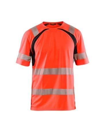 Blaklader 3397 UV High Vis T-Shirt (High Vis Red/Black)