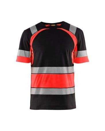 Blaklader 3421 High Vis T-Shirt (Black/Red)