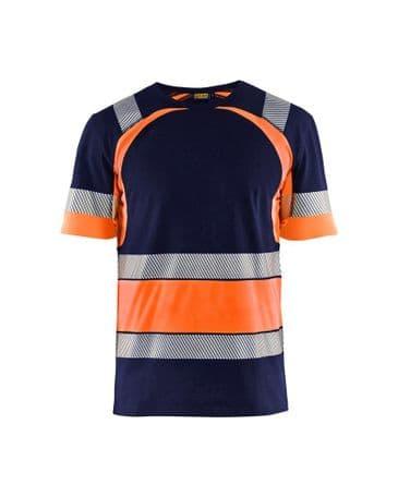 Blaklader 3421 High Vis T-Shirt (Navy Blue/Orange)