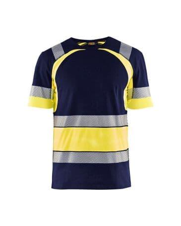 Blaklader 3421 High Vis T-Shirt (Navy Blue/Yellow)