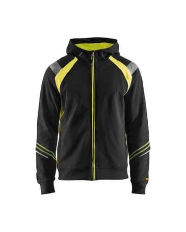 Blaklader 3433 Hoodie Full Zip (Black/Yellow)