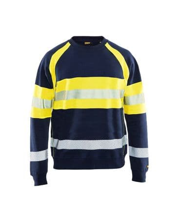 Blaklader 3459 Multinorm Sweatshirt (Navy Blue/Yellow)