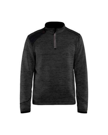 Blaklader 4943 Knitted Jacket Half Zip (Antracit Grey/White)
