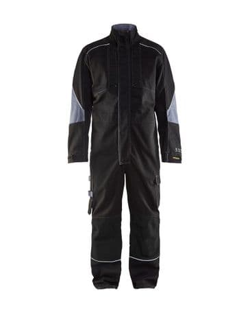 Blaklader 6061 Anti-Flame Overall (Black/Grey)